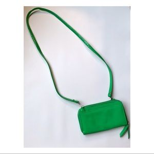 Buxton Vintage Green Patent Leather Crossbody